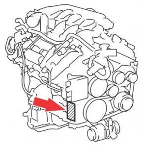 Номер двигателя на Лексус